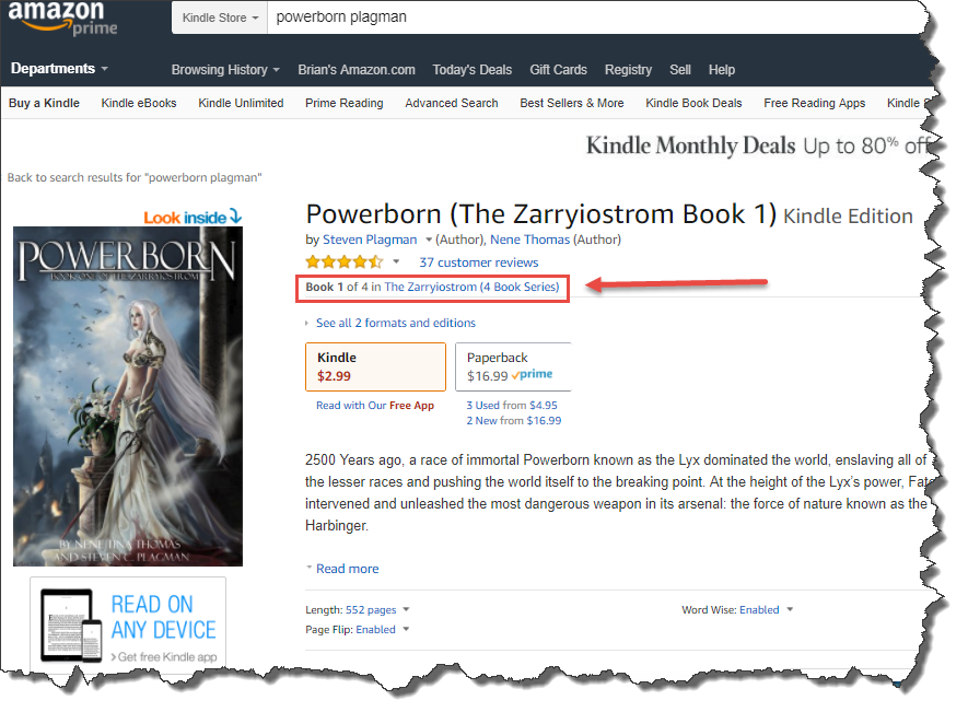 Creating a single product page for a book series on Amazon